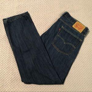 Levi's 513 Medium-Dark Wash Slim-Straight Jeans